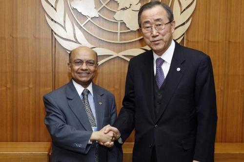 Kul Gautam with Ban-Ki-Moon